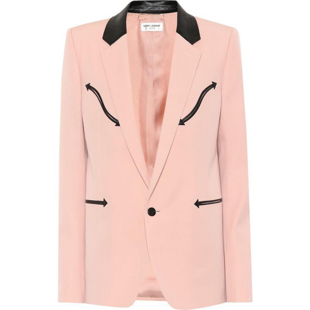 イヴ サンローラン Saint Laurent レディース スーツ・ジャケット アウター【Western grain de poudre blazer】Rose Pale