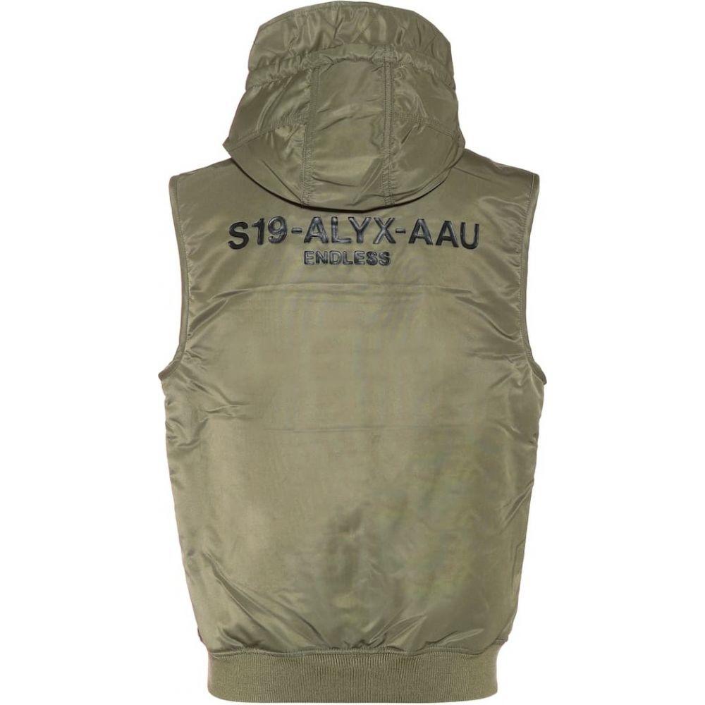 アリクス 1017 ALYX 9SM レディース ベスト・ジレ トップス【MA-1 hooded vest】sage green