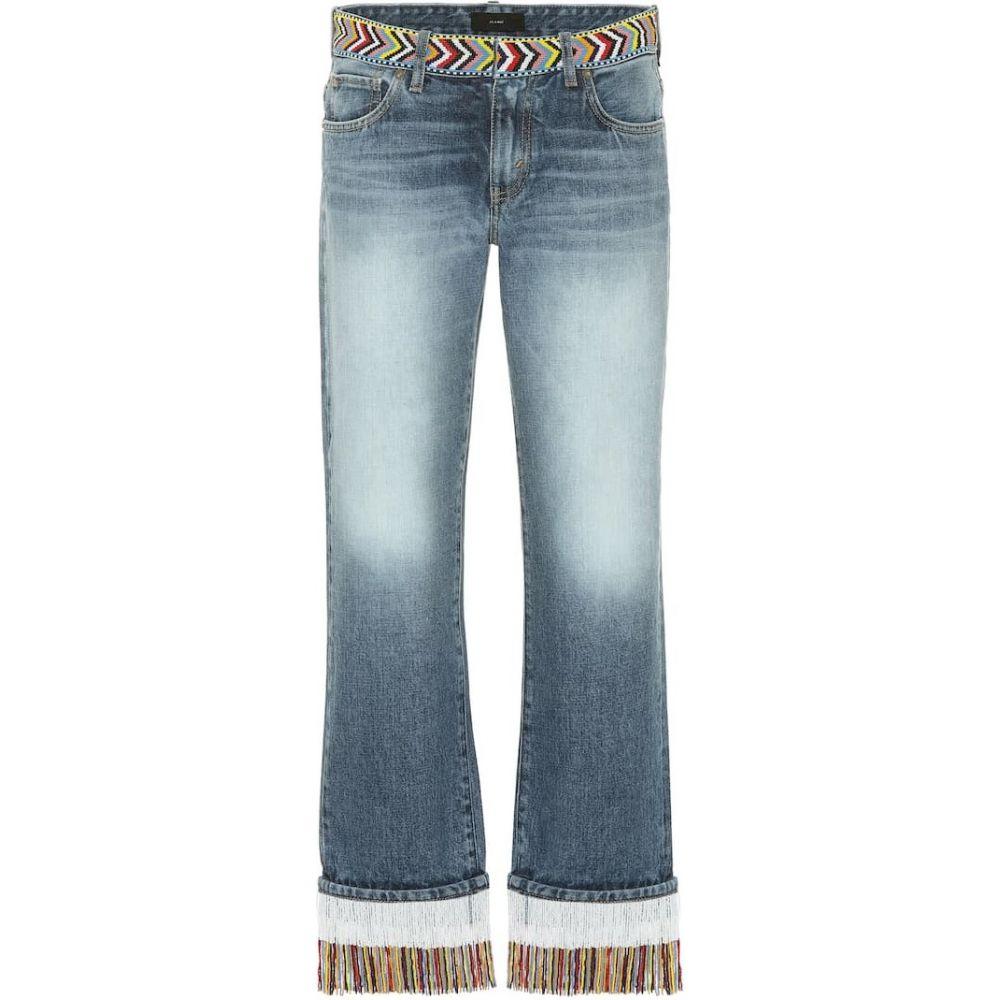 アラヌイ Alanui レディース ジーンズ・デニム ボトムス・パンツ【Embellished mid-rise jeans】Santa Monica