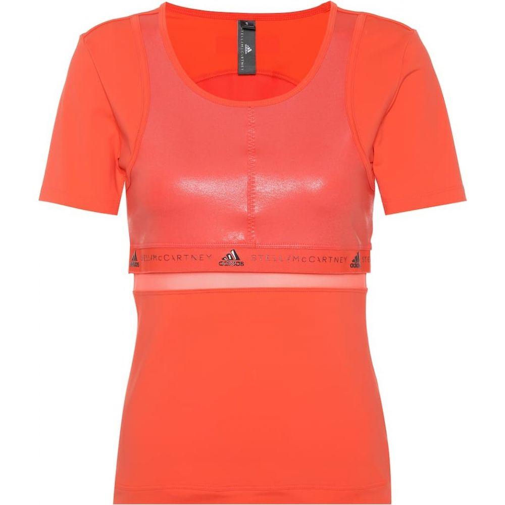 アディダス Adidas by Stella McCartney レディース Tシャツ トップス【Run T-shirt】Hot Coral