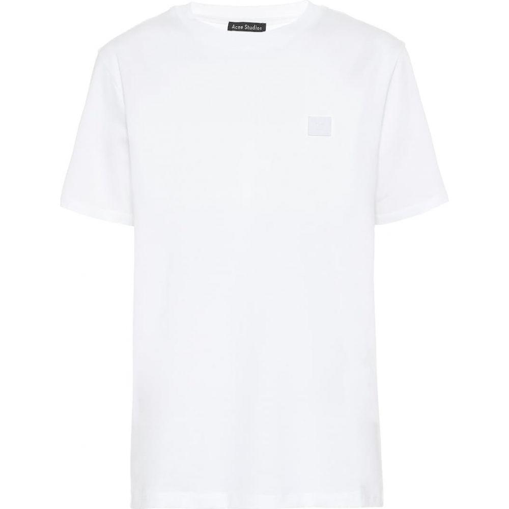 アクネ ストゥディオズ Acne Studios レディース Tシャツ トップス【Face cotton-jersey T-shirt】Optic White