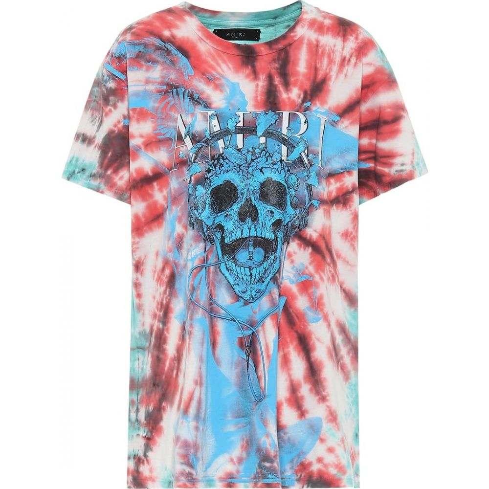 アミリ Amiri レディース Tシャツ トップス【Tie-dye printed cotton T-shirt】Green