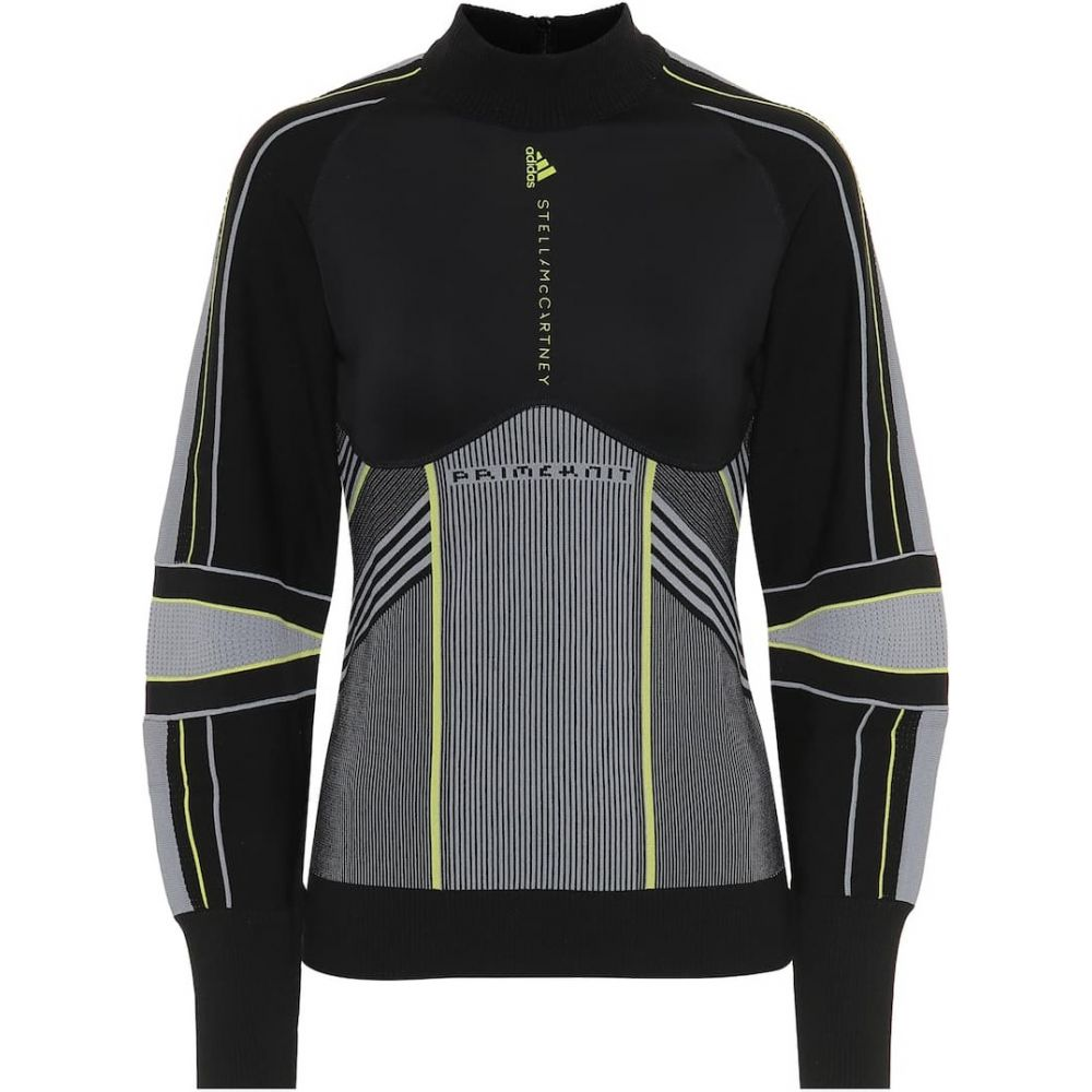 アディダス Adidas by Stella McCartney レディース ニット・セーター ミッドレイヤー トップス【Run Midlayer sweater】Black Grey Half Green