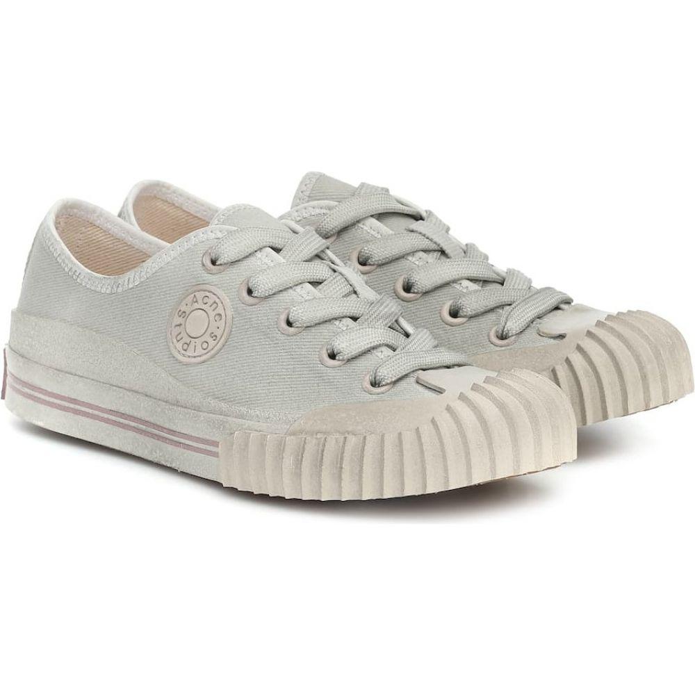 アクネ ストゥディオズ Acne Studios レディース スニーカー シューズ・靴【Twill sneakers】Grey