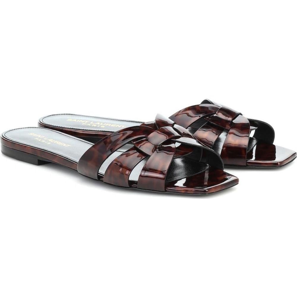 イヴ サンローラン Saint Laurent レディース サンダル・ミュール シューズ・靴【Nu Pieds 05 patent leather sandals】Natural