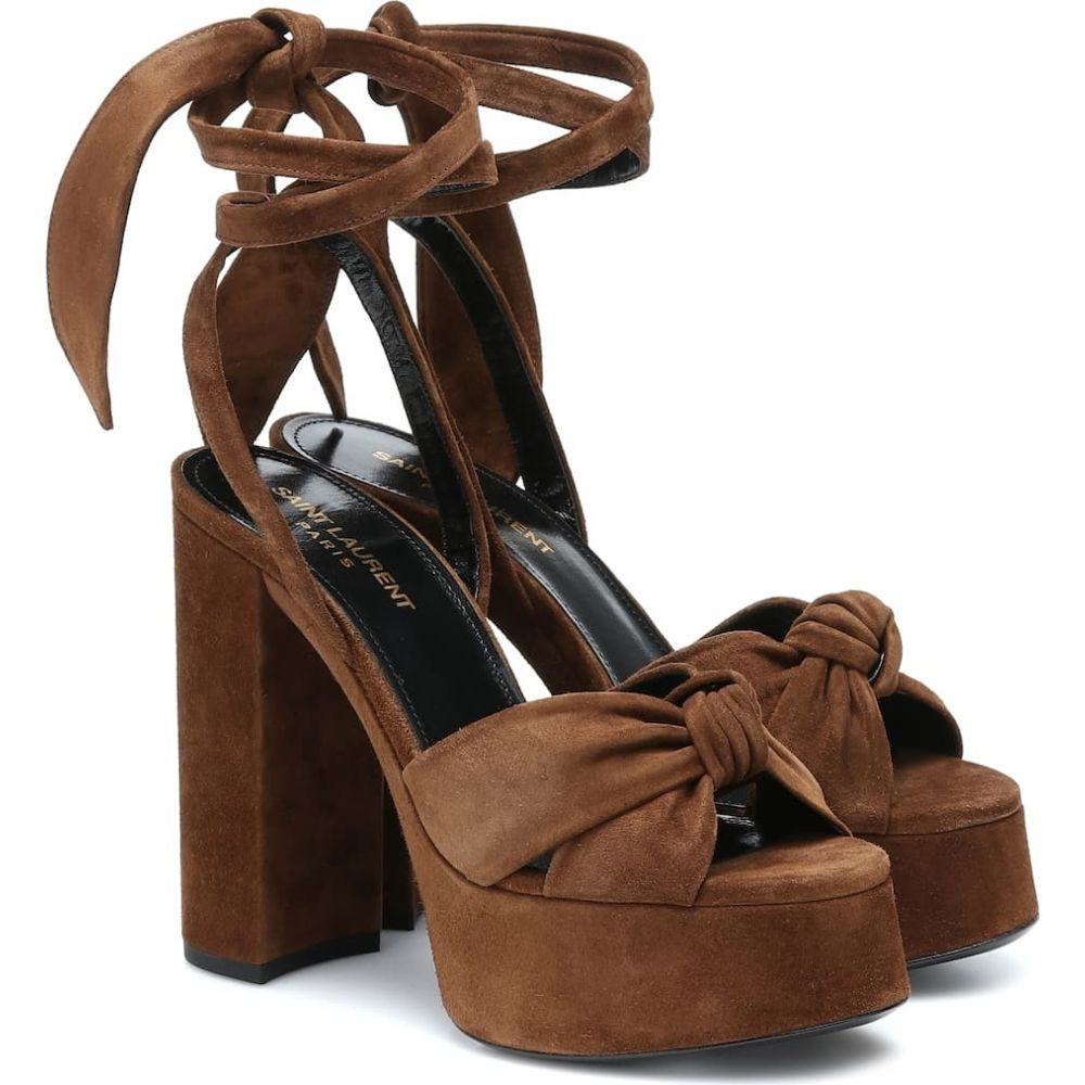 イヴ サンローラン Saint Laurent レディース サンダル・ミュール シューズ・靴【Bianca 125 suede platform sandals】Land