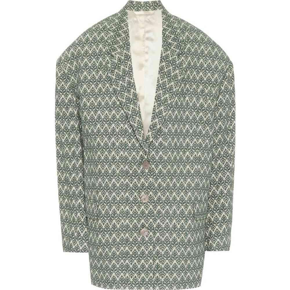 アクネ ストゥディオズ Acne Studios レディース スーツ・ジャケット アウター【Cotton-blend jacquard blazer】Green/Beige