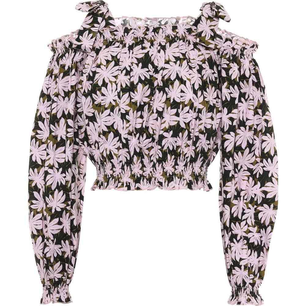 アレクサンドラ ミロ Alexandra Miro レディース ベアトップ・チューブトップ・クロップド トップス【Gypsy printed cotton crop top】Small Pink Palm
