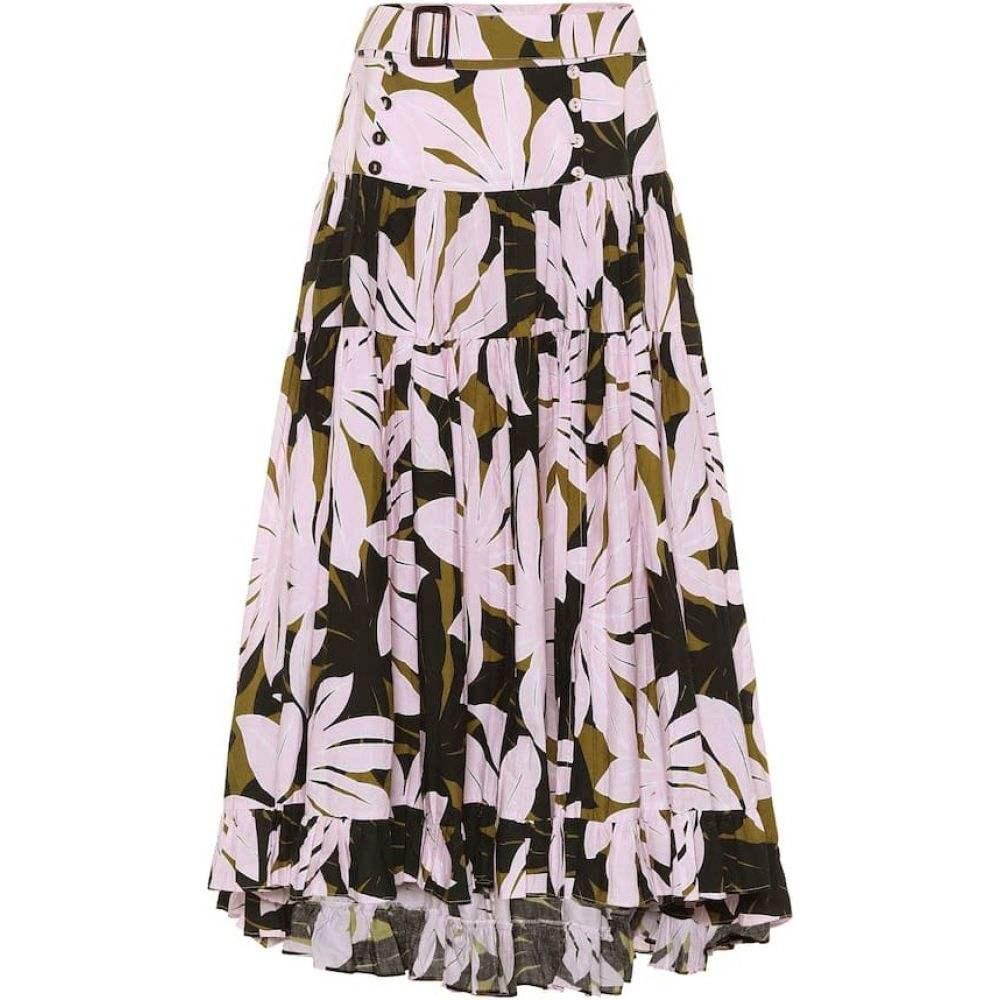アレクサンドラ ミロ Alexandra Miro レディース ひざ丈スカート スカート【Penelope printed cotton midi skirt】Large Pink Palm