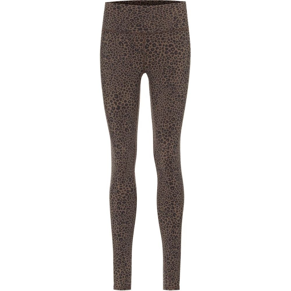 アローヨガ Alo Yoga レディース スパッツ・レギンス インナー・下着【Vapor leopard-print high-rise leggings】Olive Branch