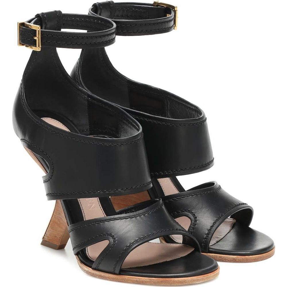 アレキサンダー マックイーン Alexander McQueen レディース サンダル・ミュール シューズ・靴【No.13 leather sandals】Black/Gold/Black