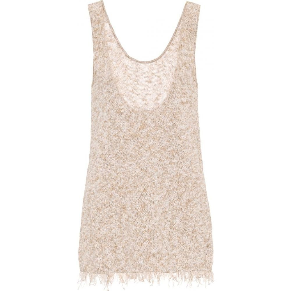 アラヌイ Alanui レディース タンクトップ トップス【Exclusive to Mytheresa - Cotton-blend tank top】Sand Melange