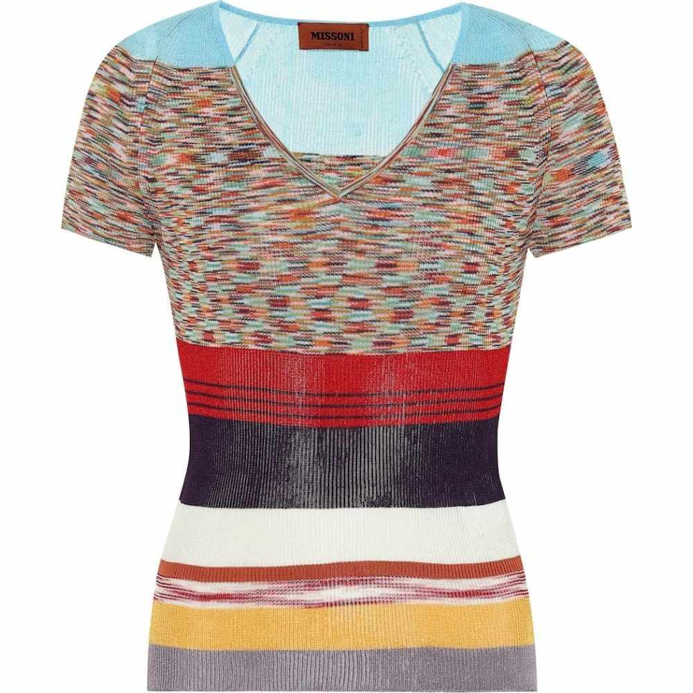 ミッソーニ Missoni レディース ニット・セーター トップス【Striped knit T-shirt】