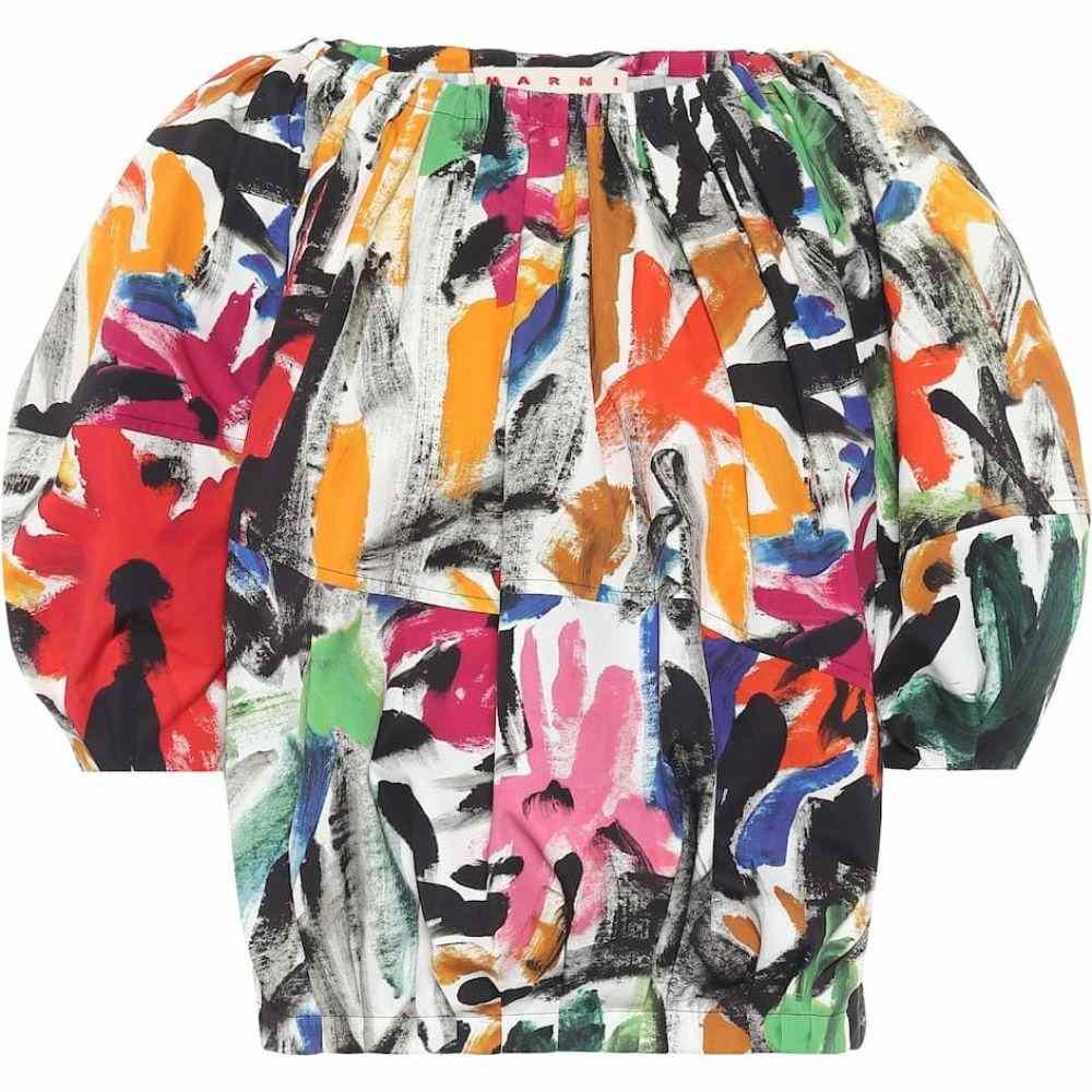マルニ Marni レディース ブラウス・シャツ トップス【Printed cotton blouse】Red