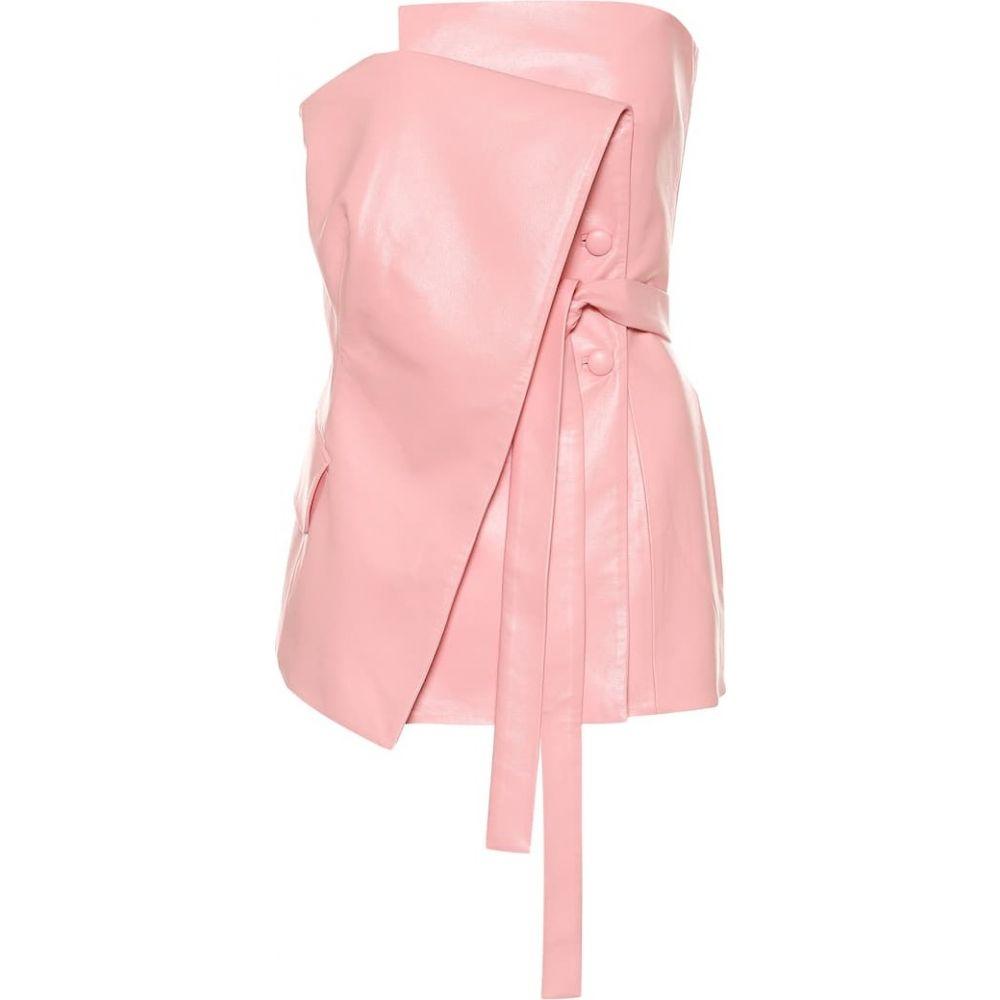 マテリエルティビリシ Materiel Tbilisi レディース トップス 【Faux-leather top】Pink