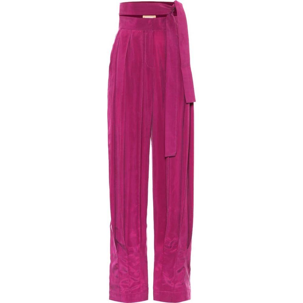 マテリエルティビリシ Materiel Tbilisi レディース ボトムス・パンツ 【High-rise satin pants】Violet