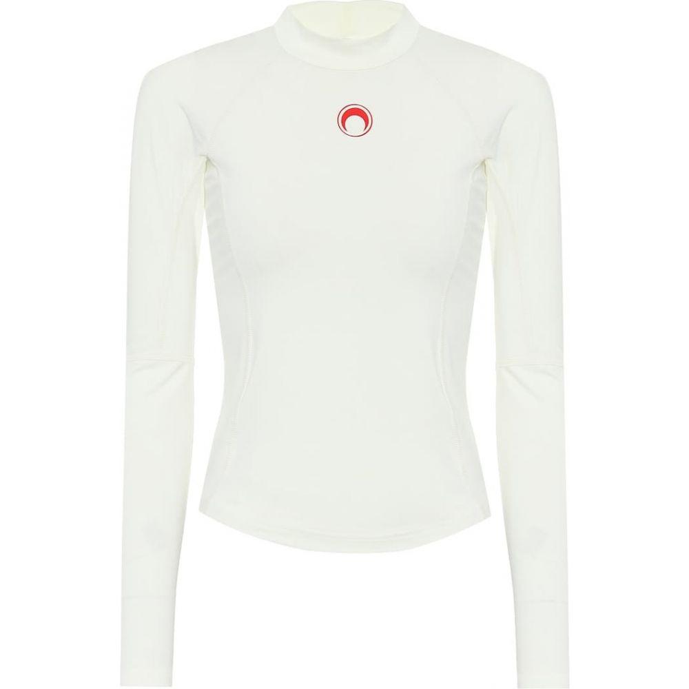 マリーン セル Marine Serre レディース トップス 【Logo stretch-jersey top】Broken White