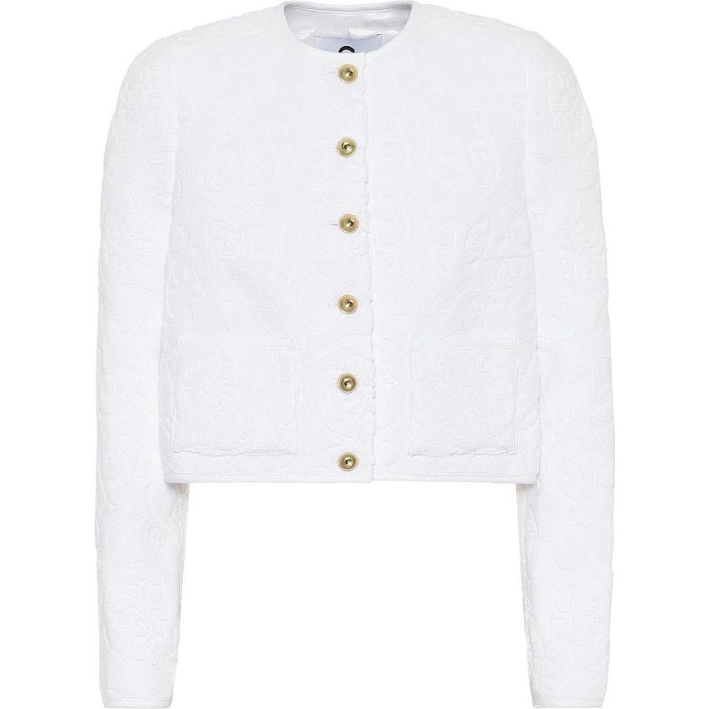 マリーン セル Marine Serre レディース スーツ・ジャケット アウター【Floral cotton-toweling jacket】White Jacquard