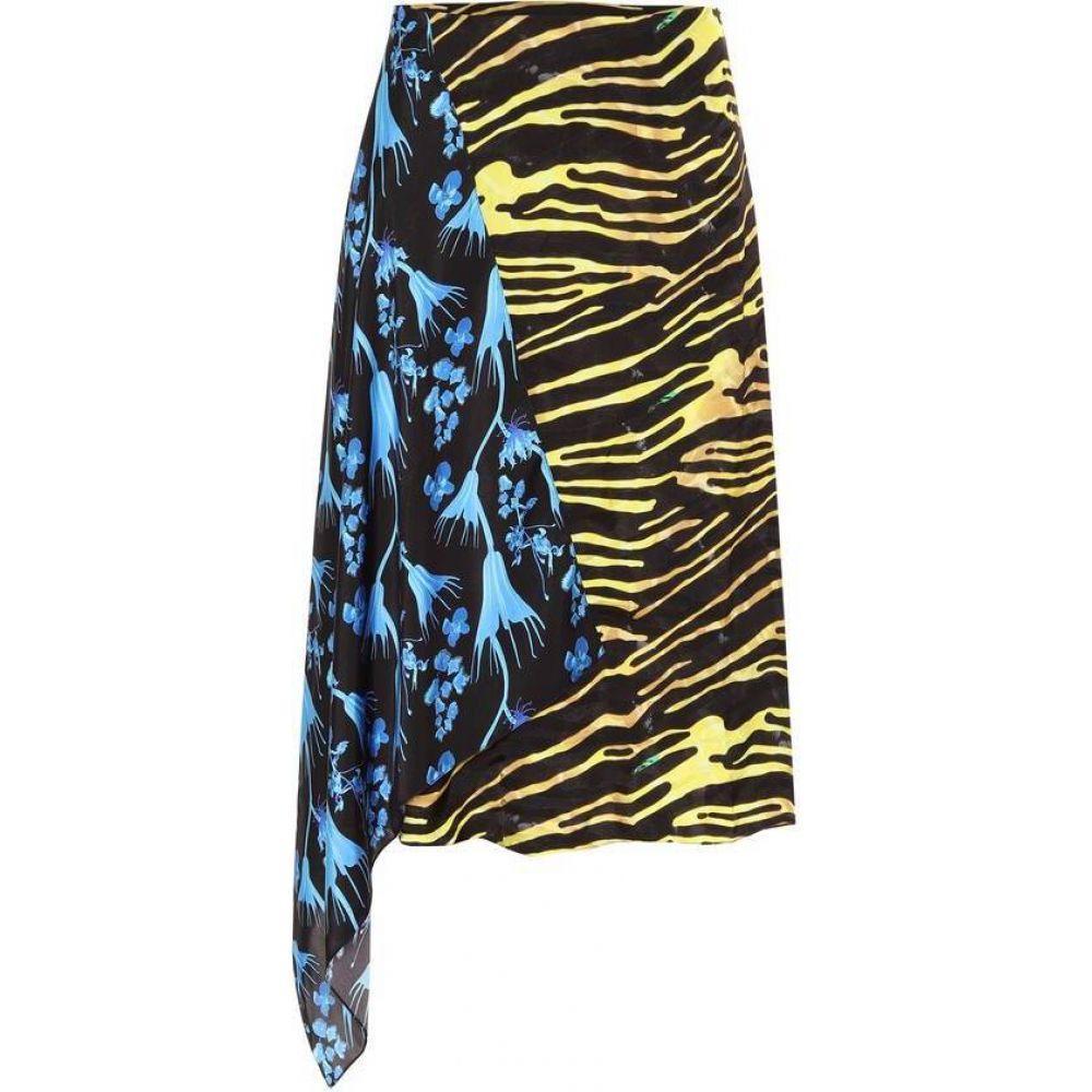 マリーン セル Marine Serre レディース ひざ丈スカート スカート【Printed midi skirt】Amphibian Zebra