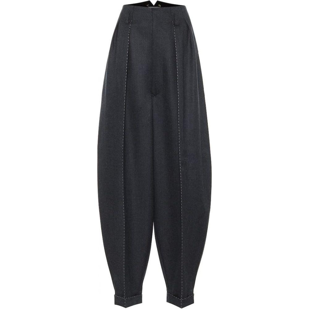 メゾン マルジェラ Maison Margiela レディース ボトムス・パンツ 【High-rise wide-leg wool pants】Blue