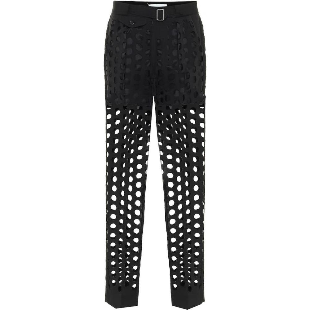 メゾン マルジェラ Maison Margiela レディース ボトムス・パンツ 【Perforated crepe mid-rise pants】Black