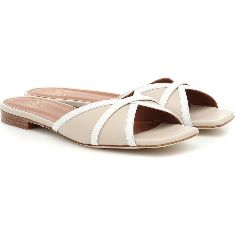 マローンスリアーズ Malone Souliers レディース サンダル・ミュール シューズ・靴【Perla leather sandals】Marble/White