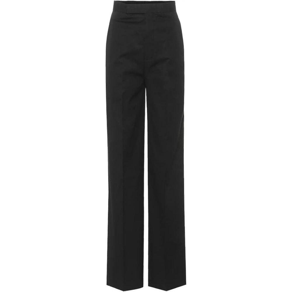 リック オウエンス Rick Owens レディース ボトムス・パンツ 【High-waisted cotton trousers】Black