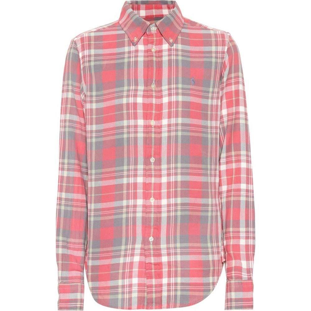 ラルフ ローレン Polo Ralph Lauren レディース ブラウス・シャツ トップス【Plaid cotton shirt】841 PINK MINT