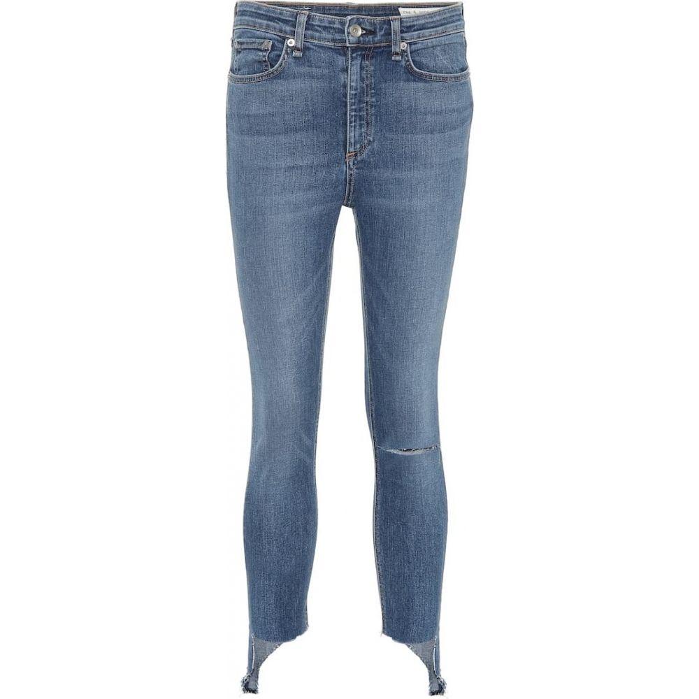ラグ&ボーン Rag & Bone レディース ジーンズ・デニム ボトムス・パンツ【Nina High-Rise Ankle skinny jeans】ambra