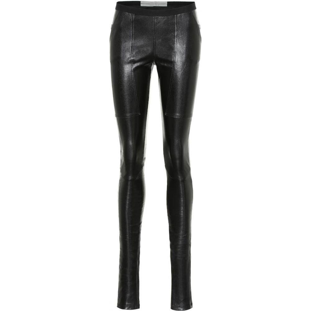 リック オウエンス Rick Owens レディース ボトムス・パンツ レザーレギンス【Easy Nagakin leather leggings】Black