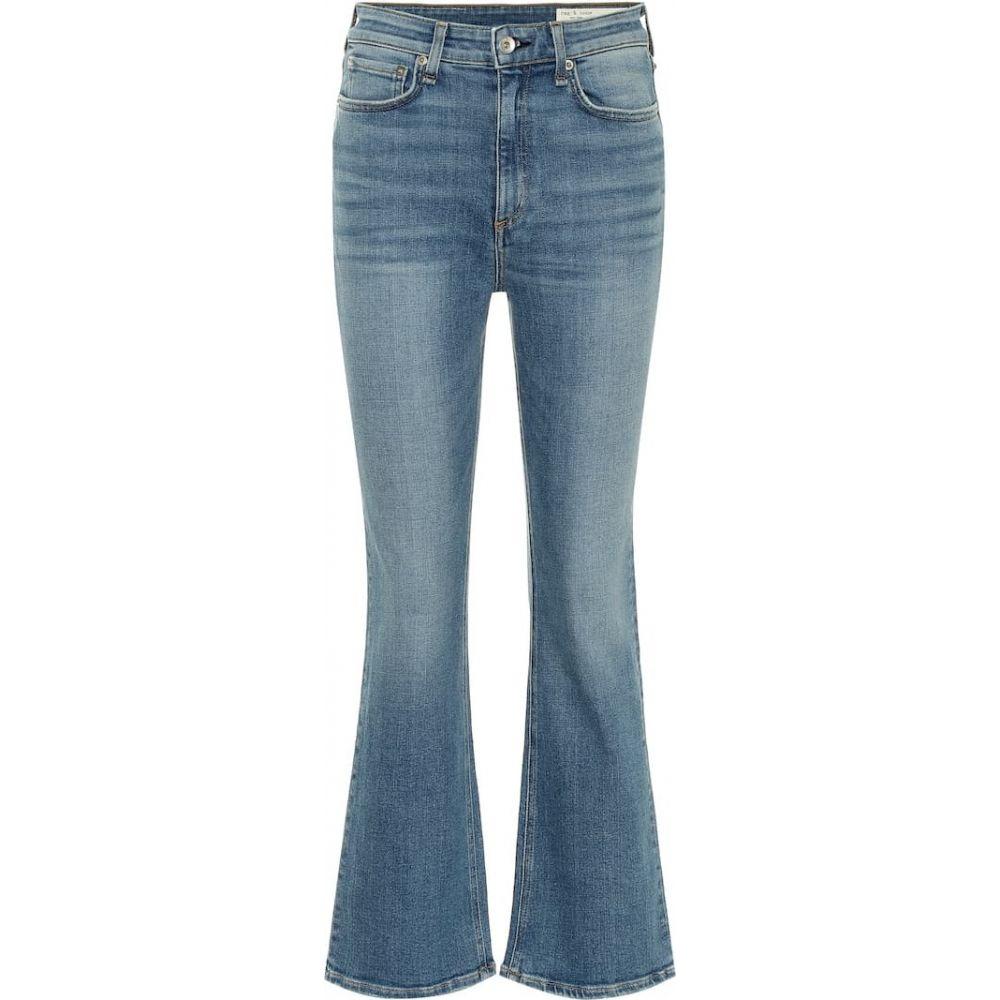 ラグ&ボーン Rag & Bone レディース ジーンズ・デニム ボトムス・パンツ【Nina high-rise cropped flared jeans】gravel
