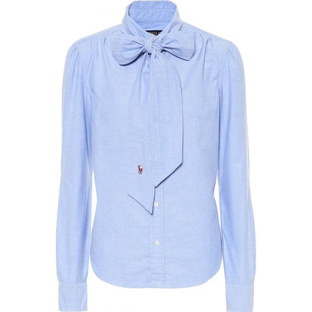 ラルフ ローレン Polo Ralph Lauren レディース ブラウス・シャツ トップス【Cotton shirt】Blue Hyacinth