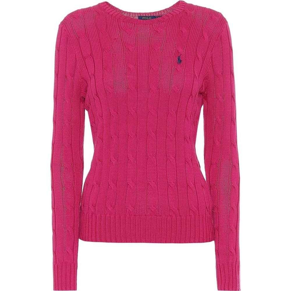 ラルフ ローレン Polo Ralph Lauren レディース ニット・セーター トップス【Cotton sweater】Accent Pink
