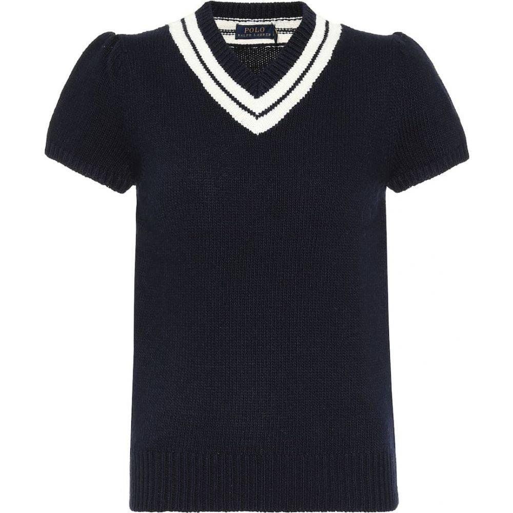 ラルフ ローレン Polo Ralph Lauren レディース ニット・セーター トップス【Cotton-blend knit top】Hunter Navy/Cream
