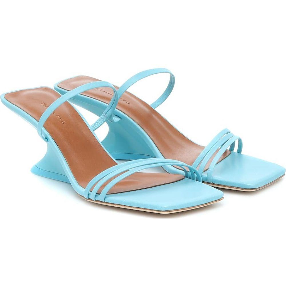 レジーナ ピヨ Rejina Pyo レディース サンダル・ミュール ウェッジソール シューズ・靴【Romy leather wedge sandals】Leather Jewel Blue