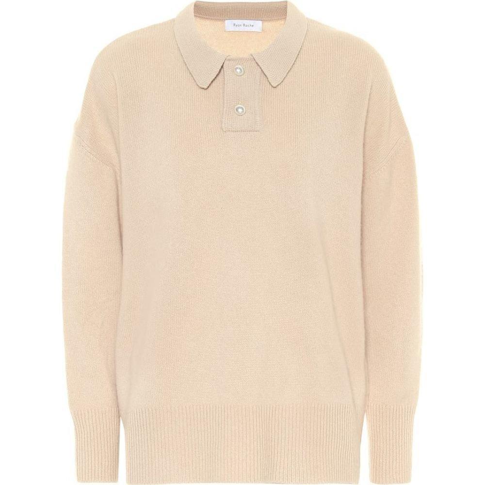 ライアンロッシュ Ryan Roche レディース ニット・セーター トップス【Cashmere sweater】Latte
