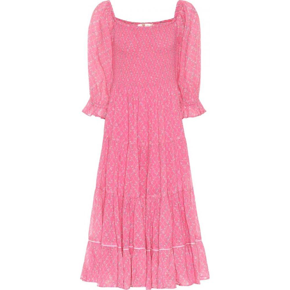 ラブシャックファンシー LoveShackFancy レディース ワンピース ワンピース・ドレス【Rigby floral cotton dress】Fuchsia Berry