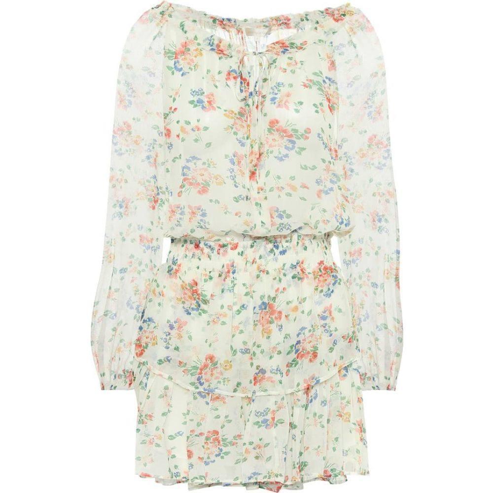 ラブシャックファンシー LoveShackFancy レディース ワンピース ワンピース・ドレス【Popover floral silk minidress】Floral Confetti