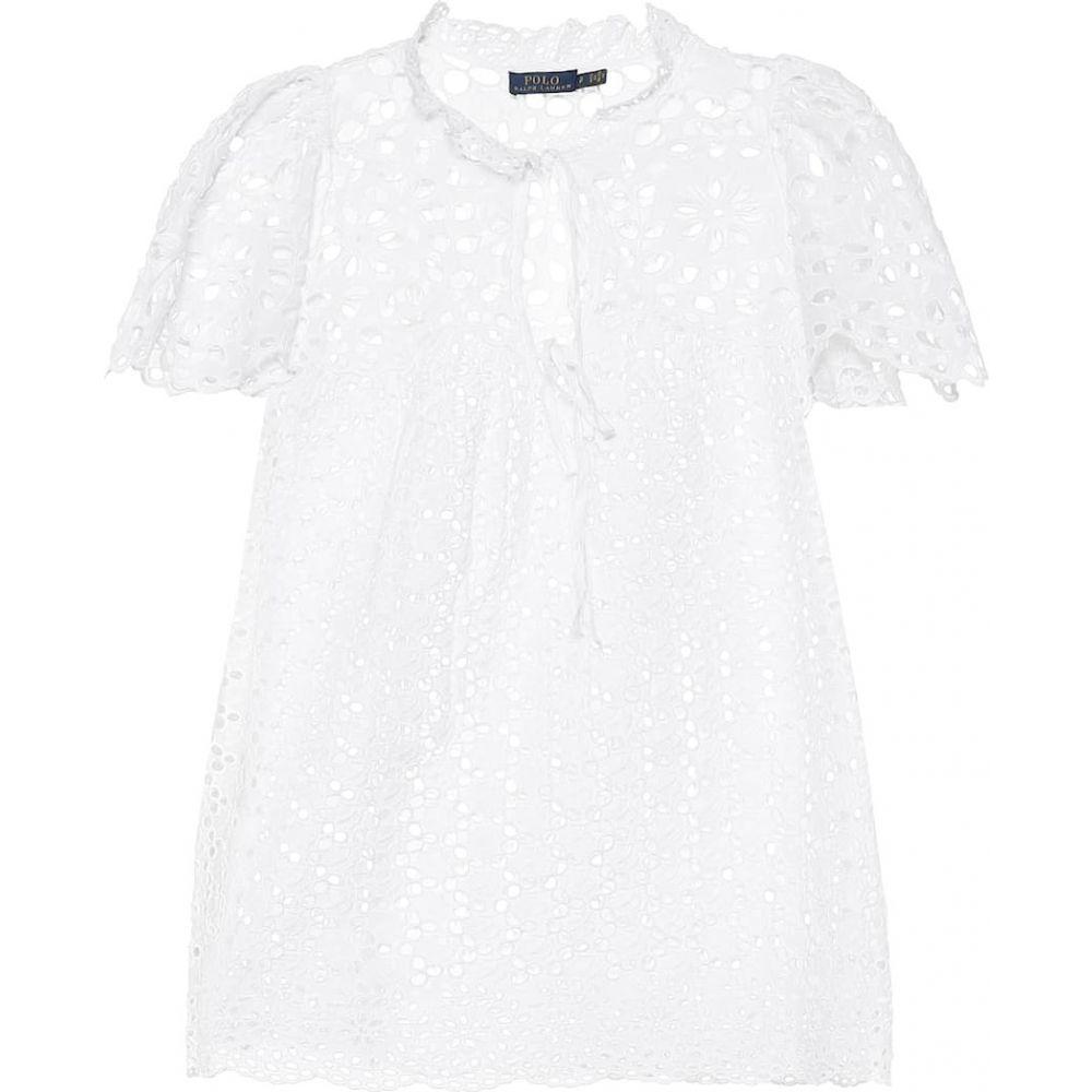 ラルフ ローレン Polo Ralph Lauren レディース ブラウス・シャツ トップス【Cotton-lace shirt】White