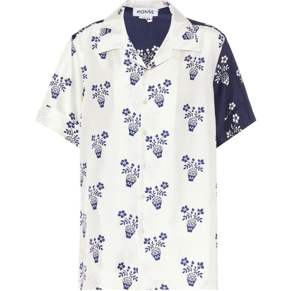 モンス Monse レディース ブラウス・シャツ トップス【Printed silk-twill shirt】Midnight/Linen