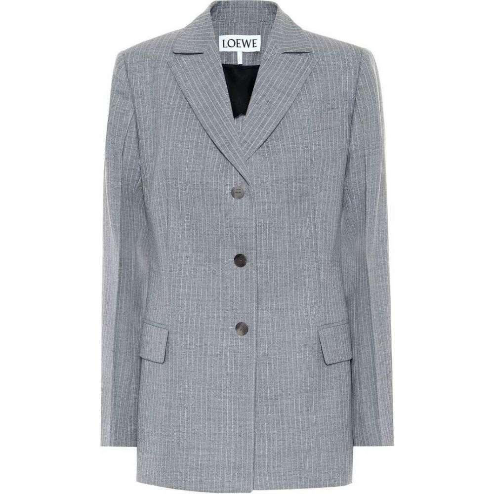 ロエベ Loewe レディース スーツ・ジャケット アウター【Striped wool blazer】Grey
