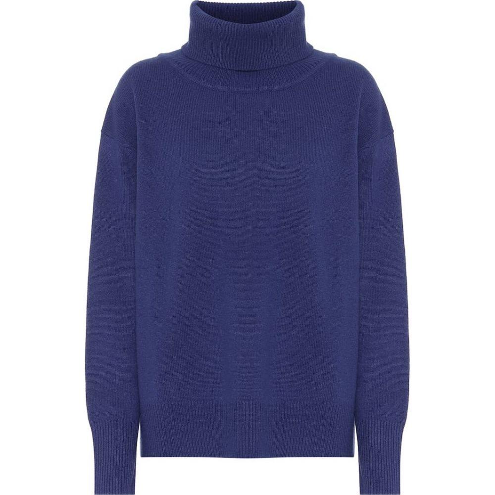 ライアンロッシュ Ryan Roche レディース ニット・セーター トップス【Cashmere turtleneck sweater】Blue