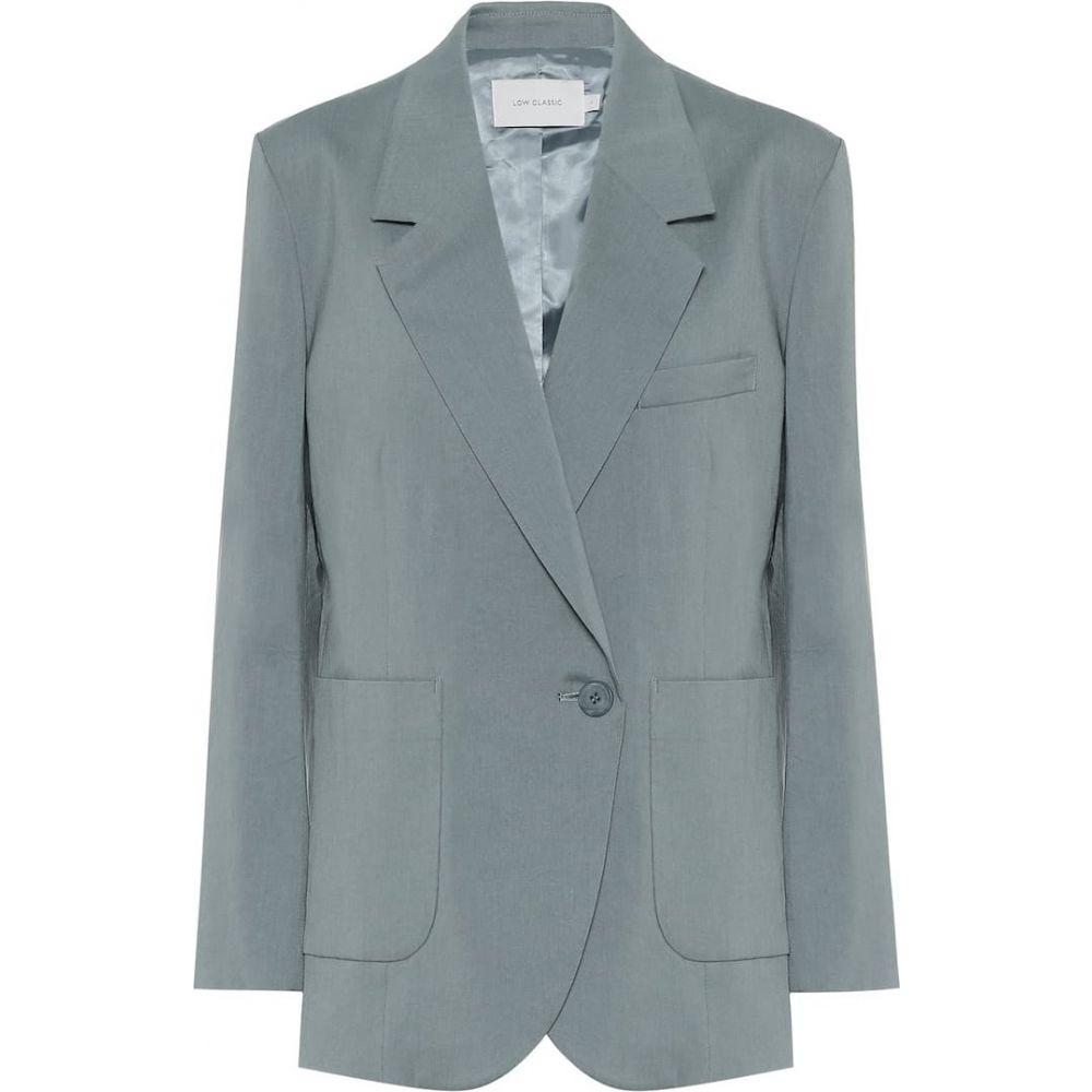 ロウ クラシック Low classic レディース スーツ・ジャケット アウター【Oversized blazer】Blue Green