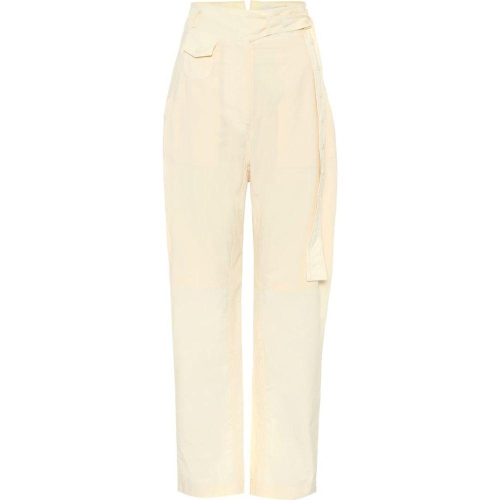 Low 【High-rise ボトムス・パンツ クラシック cotton レディース classic pants】Cream straight ロウ