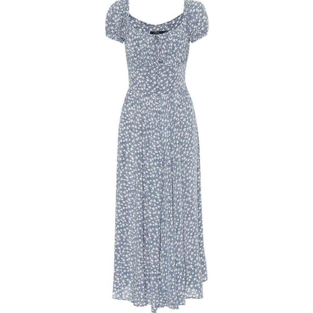 ラルフ ローレン Polo Ralph Lauren レディース ワンピース ミドル丈 ワンピース・ドレス【Printed midi dress】Blue White