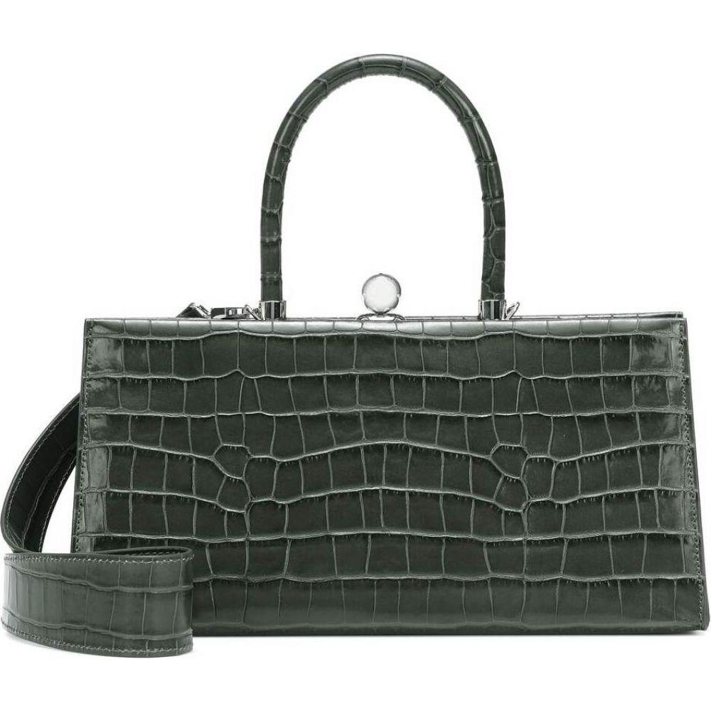 レイショ エ モテュス Ratio et Motus レディース ショルダーバッグ バッグ【Sister croc-effect leather shoulder bag】Forest Grey Croc