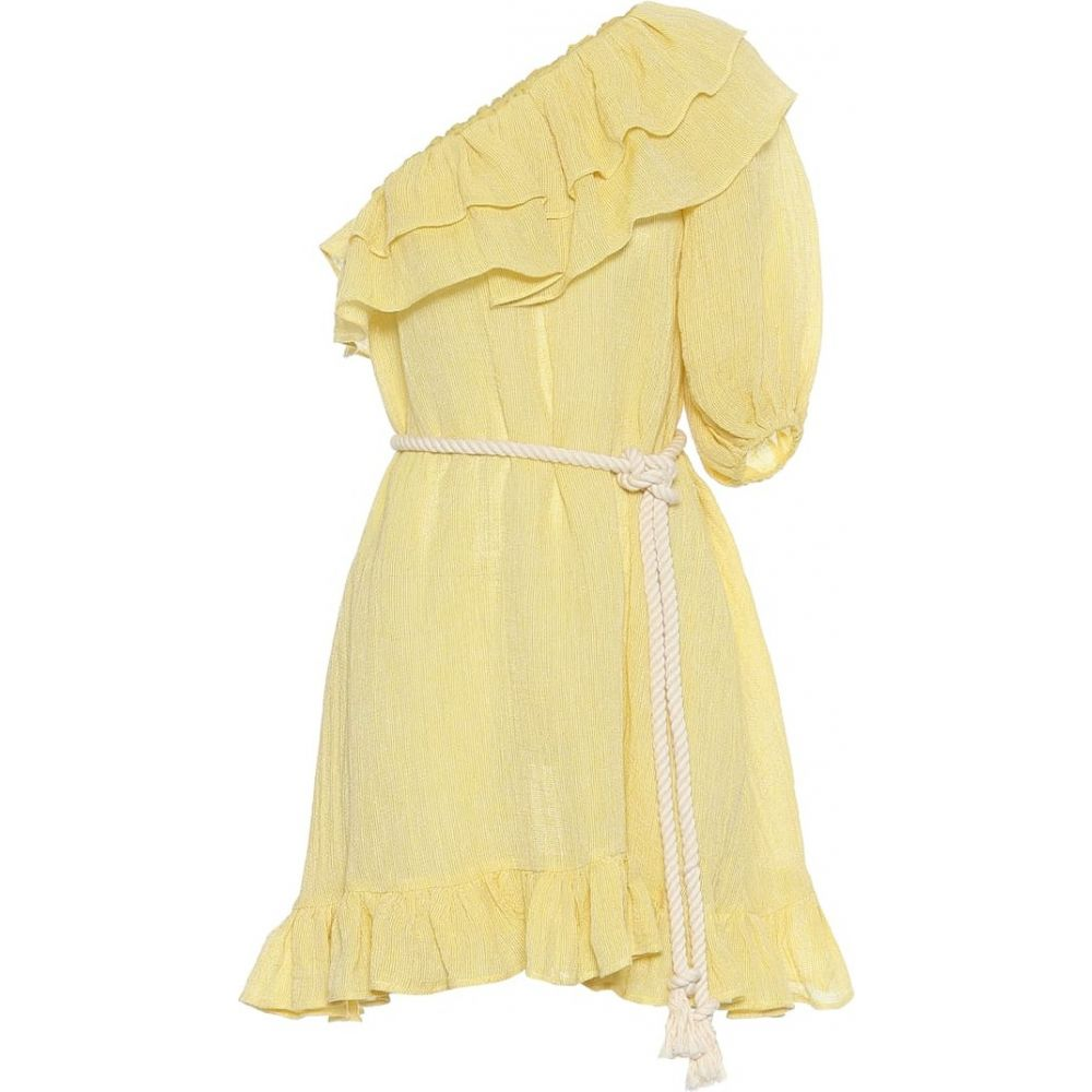 リサ マリー フェルナンデス Lisa Marie Fernandez レディース ワンピース ワンピース・ドレス【Arden linen-blend gauze minidress】Yellow Chios Gauze