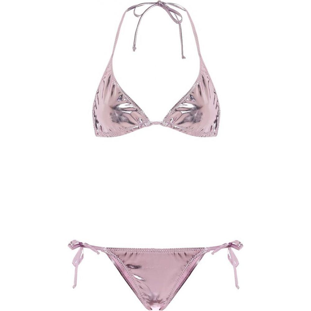 リサ マリー フェルナンデス Lisa Marie Fernandez レディース 上下セット 水着・ビーチウェア【Pamela metallic PVC bikini】Lavender Pvc