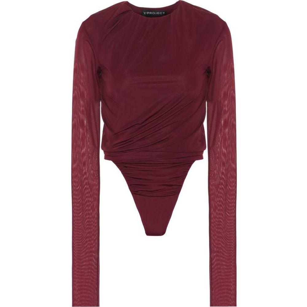 ワイプロジェクト Y/PROJECT レディース ボディースーツ インナー・下着【Ruched bodysuit】plum