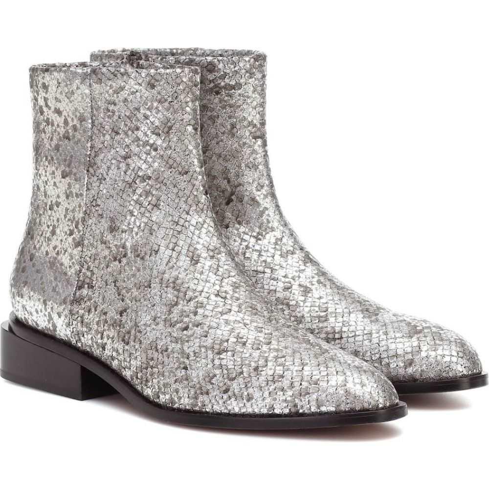 ロベール クレジュリー Clergerie レディース ブーツ ショートブーツ シューズ・靴【Xenon metallic leather ankle boots】Silver Mamba